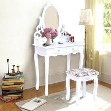 round vanity table dressing table stool white vanity wood makeup dressing table stool set with cushion