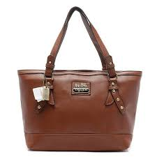 Coach City Saffiano Large Brown Totes AOB