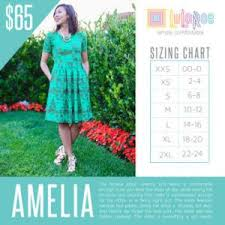 Here Is The Sizing Chart For The Lularoe Amelia Dress In