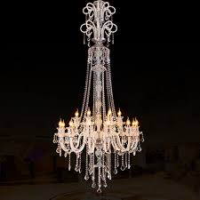 modern chandeliers for high ceilings large modern crystal chandelier for high ceiling extra