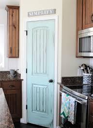 View in gallery Aqua Door in Rustic Kitchen