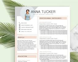 Modern Resume Etsy Modern Resume Template Cv Template Professional And Etsy