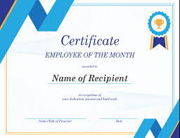Employment certificate format (to be certified by employer). Employee Of The Month Certificate