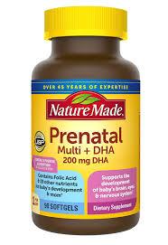 Vitamin tổng hợp cho bà bầu Prenatal Multi DHA Nature Made 150 viên - Giá  bán, mua ở đâu?