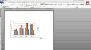 Excel Chart Tutorial Youtube How To Copy And Paste A Chart From Excel To Word