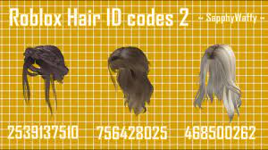 Roblox outfits are a part of roblox character designs which makes every character unique. Roblox Rhs Hair Id Codes 2 Youtube