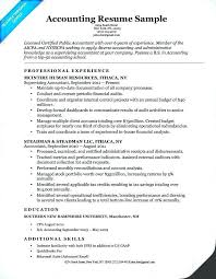 Resume For Accountant Assistant Assistant Reconciliation Accountant
