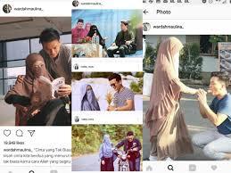 Ini terjadi setelah pasangan yang menikah februari 2017 itu saling curhat di media sosial, yang memberi sinyal kegalauan. Selebgram Dorong Remaja Menikah Muda