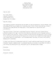 Cover Letter Sample Teacher Resume Template Directory
