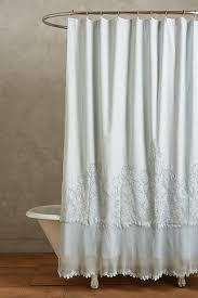 white lace shower curtain. Sissonne Pale Blue Lace Shower Curtain White T