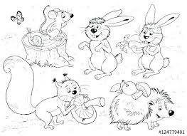 Forest Animals Coloring Pages Some Coloring Pages In The Theme