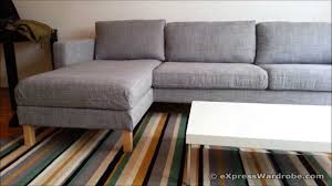 ikea karlstad sofa and chaise longue design sectional couch reviews large sofas with recliners settees leather