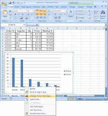 ms excel 2007 create a chart with two y and one shared x axis