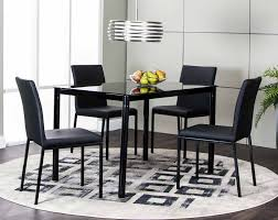 black dining room furniture sets. Zeta 5 Piece Dinette Set Black Dining Room Furniture Sets I