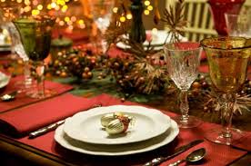 Dress up your dining table. To add to the Christmas spirit, use a  tablecloth that has red and green colors in it. You can also adorn the table  with a ...