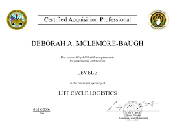 Lifecycle Logistics Level 3 Certification_4_06