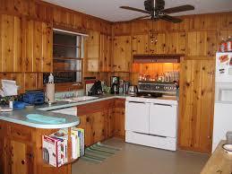 vintage knotty pine kitchen