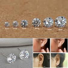 <b>6 Pairs</b>/<b>set</b> Different Size Crystal Rhinestone Ear Studs Women ...