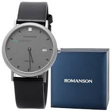 Купить мужские наручные <b>часы Romanson UL0576SMW</b>(<b>GR</b> ...