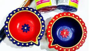 Diya Painting Designs Easy Ways To Decorate Plain Diyas Part 3 Small Diya Painting Ideas Diwali Decoration Diy