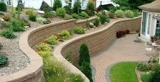 retg wll bckyrd landscape retaining wall block dimensions