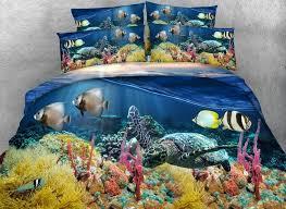 82 3d sea turtle printed cotton 4 piece bedding sets duvet covers