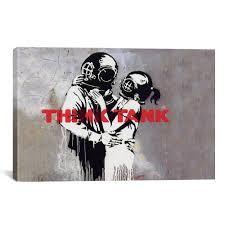 iCanvasART Banksy (Reproduction) <b>Blur Think</b> Tank Album Cover ...