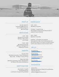 White and Gray Modern Resume
