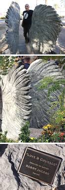 with wings across america sculptor bobby jacobs created his largest scale set of angel wings to date for the las vegas community healing garden