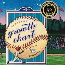 Nwt Eeboo Baseball Growth Chart Nwt