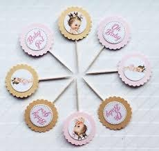 30 Royal Princess Cupcake Toppers Girl Baby Shower Food Picks Ebay