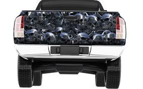 Chrome skulls Truck Tailgate wrap   Xtreme Digital GraphiX
