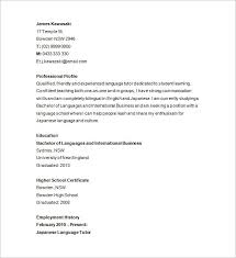 Tutor Resume Sample Letter Example