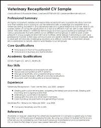 Examples Of Receptionist Resume Ghostwriting Extreme Screenwriting