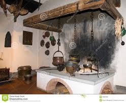 Kitchen Fireplace For Cooking Indoor Fireplace Cooking Kitchen Of Medieval Castle With Cooking