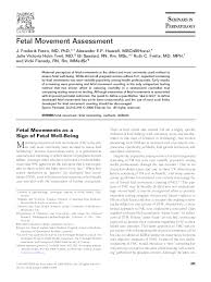 Fetal Kick Chart Pdf Pdf Fetal Movement Assessment Ruth Fretts Academia Edu