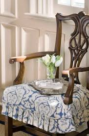 custom chair seat slipcover with pleated skirt photo by bob greenspan slipcovers for dining