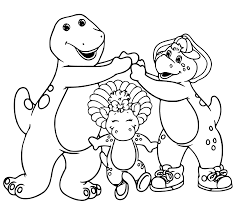 Small Picture Barney And Friends Coloring Pages GetColoringPagescom