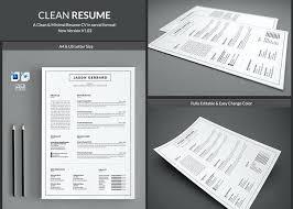40 Pages Clean Resume CV Pandora Resume Templates Creative Market Beauteous Resume Pandora