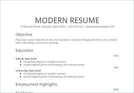 Samples Of Simple Resumes Simple Object Resume Examples With