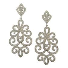 laise pave crystal chandelier earrings