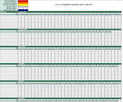 Calendar 2013 Template Excel Employee Shift Schedule E Vacation Tracking Calendar