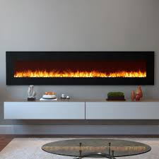 pebble electric wall mounted fireplace in black