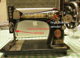 White Sewing Machine Bobbin Winder