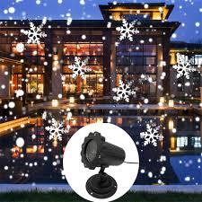 Snowfall Blizzard Lights Amazon Com Nsst Christmas Snowflake Projection Lamp