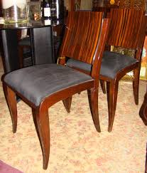 set of 6 elegant french art deco macassar dining chairs art deco dining 6