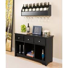 The Living Room Wine Bar Prepac Sonoma Black Storage Console Table Blc 4830 K The Home Depot
