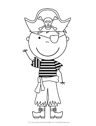 Kid Color Pages Pirate Boy 12206, - Bestofcoloring.com