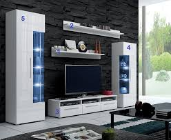 Tv Stand For Living Room Furnline Dos High Gloss Tv Stand Wall Unit Living Room Furniture