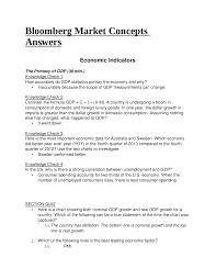 Risposte Bloomberg Market Concepts Bmc Docsity